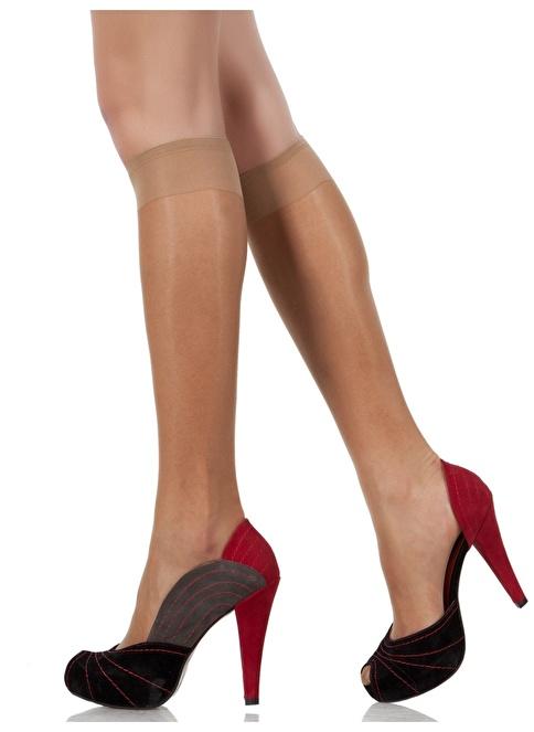 Pierre Cardin 4'Lü Parlak Dizaltı Çorap Bronz